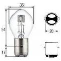 ampoule de phare blanche  12V  35/35W