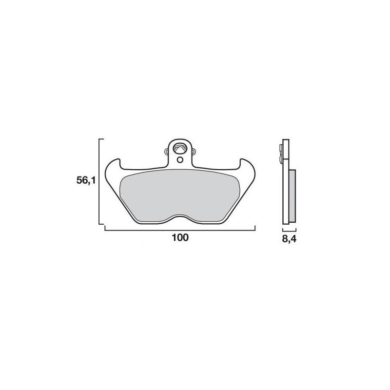 plaquette de frein avant brembo pieces moto bmw. Black Bedroom Furniture Sets. Home Design Ideas