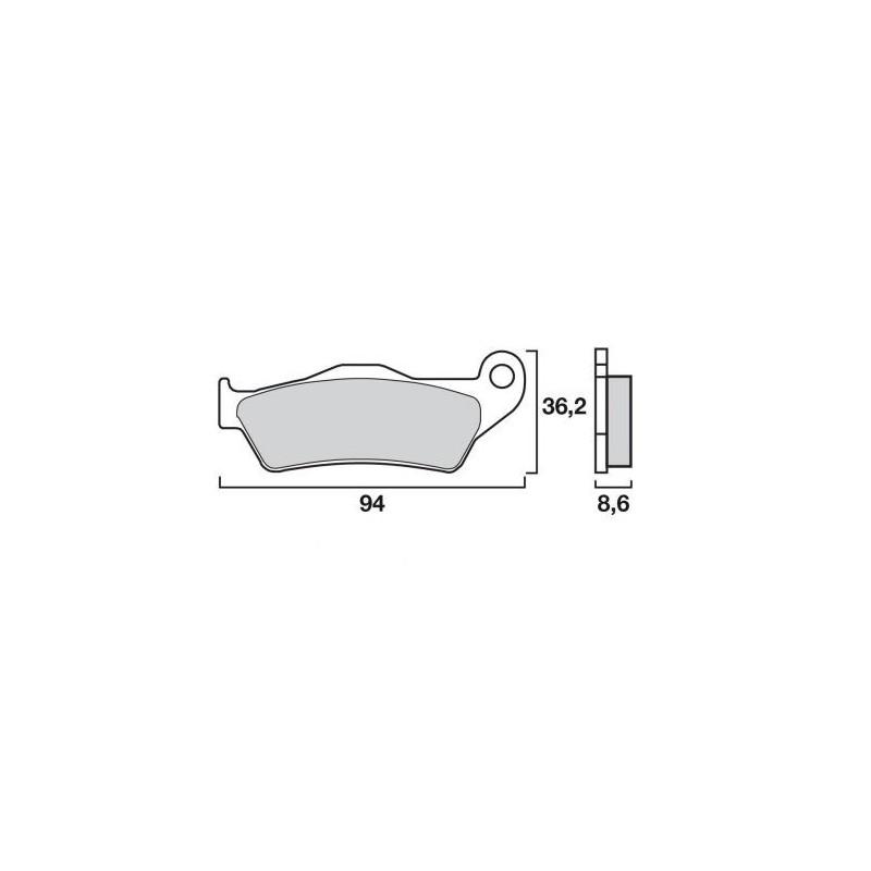 plaquette de frein arri re brembo pieces moto bmw. Black Bedroom Furniture Sets. Home Design Ideas